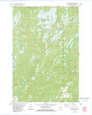 Download a high-resolution, GPS-compatible USGS topo map for Moose Junction, WI (1983 edition)