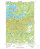 Download a high-resolution, GPS-compatible USGS topo map for Namekagon Lake, WI (1990 edition)