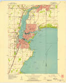 Download a high-resolution, GPS-compatible USGS topo map for Neenah, WI (1957 edition)