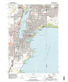 Download a high-resolution, GPS-compatible USGS topo map for Neenah, WI (1996 edition)
