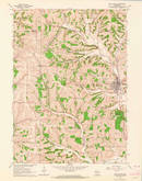 Download a high-resolution, GPS-compatible USGS topo map for New Glarus, WI (1964 edition)