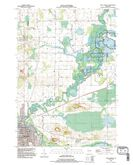Download a high-resolution, GPS-compatible USGS topo map for New London, WI (1995 edition)