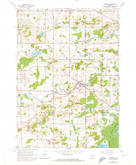 Download a high-resolution, GPS-compatible USGS topo map for Newburg, WI (1972 edition)