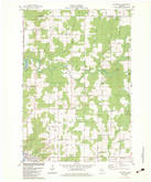 Download a high-resolution, GPS-compatible USGS topo map for Nutterville, WI (1983 edition)
