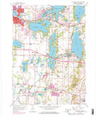 Download a high-resolution, GPS-compatible USGS topo map for Oconomowoc East, WI (1977 edition)