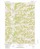 Download a high-resolution, GPS-compatible USGS topo map for Ontario, WI (1984 edition)
