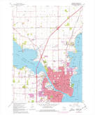 Download a high-resolution, GPS-compatible USGS topo map for Oshkosh, WI (1977 edition)