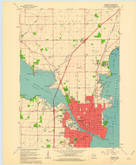 Download a high-resolution, GPS-compatible USGS topo map for Oshkosh, WI (1962 edition)