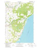 Download a high-resolution, GPS-compatible USGS topo map for Pensaukee, WI (1977 edition)