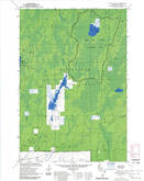 Download a high-resolution, GPS-compatible USGS topo map for Pike Lake SW, WI (1985 edition)