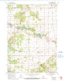Download a high-resolution, GPS-compatible USGS topo map for Plainfield, WI (1991 edition)