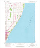 Download a high-resolution, GPS-compatible USGS topo map for Port Washington East, WI (1977 edition)