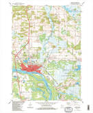 Download a high-resolution, GPS-compatible USGS topo map for Portage, WI (1984 edition)