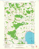 Download a high-resolution, GPS-compatible USGS topo map for Poy Sippi, WI (1968 edition)