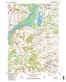 Download a high-resolution, GPS-compatible USGS topo map for Poynette, WI (1984 edition)