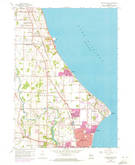 Download a high-resolution, GPS-compatible USGS topo map for Racine North, WI (1973 edition)