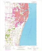 Download a high-resolution, GPS-compatible USGS topo map for Racine South, WI (1977 edition)