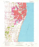 Download a high-resolution, GPS-compatible USGS topo map for Racine South, WI (1972 edition)