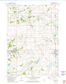 Download a high-resolution, GPS-compatible USGS topo map for Randolph, WI (1981 edition)
