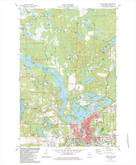 Download a high-resolution, GPS-compatible USGS topo map for Rhinelander, WI (1983 edition)