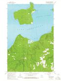 Download a high-resolution, GPS-compatible USGS topo map for Sand Island, WI (1965 edition)
