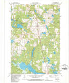 Download a high-resolution, GPS-compatible USGS topo map for Sarona, WI (1986 edition)