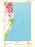 Download a high-resolution, GPS-compatible USGS topo map for Sheboygan South, WI (1974 edition)
