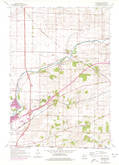 Download a high-resolution, GPS-compatible USGS topo map for Shopiere, WI (1977 edition)