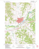 Download a high-resolution, GPS-compatible USGS topo map for Sparta, WI (1984 edition)