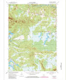 Download a high-resolution, GPS-compatible USGS topo map for Spaulding, WI (1985 edition)