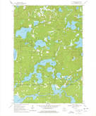 Download a high-resolution, GPS-compatible USGS topo map for St Germain, WI (1978 edition)