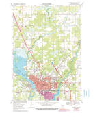 Download a high-resolution, GPS-compatible USGS topo map for Stevens Point, WI (1990 edition)