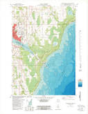Download a high-resolution, GPS-compatible USGS topo map for Sturgeon Bay East, WI (1989 edition)