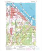 Download a high-resolution, GPS-compatible USGS topo map for Superior, WI (1993 edition)