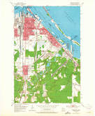 Download a high-resolution, GPS-compatible USGS topo map for Superior, WI (1965 edition)