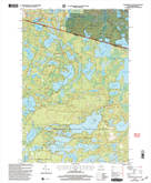 Download a high-resolution, GPS-compatible USGS topo map for Tenderfoot Lake, WI (2004 edition)