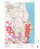 Download a high-resolution, GPS-compatible USGS topo map for Thiensville, WI (1977 edition)