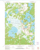 Download a high-resolution, GPS-compatible USGS topo map for Three Lakes, WI (1981 edition)