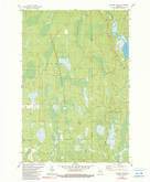 Download a high-resolution, GPS-compatible USGS topo map for Thunder Creek, WI (1990 edition)