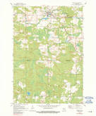 Download a high-resolution, GPS-compatible USGS topo map for Tigerton, WI (1990 edition)