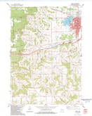Download a high-resolution, GPS-compatible USGS topo map for Tomah, WI (1984 edition)
