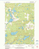 Download a high-resolution, GPS-compatible USGS topo map for Townsend, WI (1990 edition)