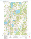 Download a high-resolution, GPS-compatible USGS topo map for Trade Lake, WI (1983 edition)