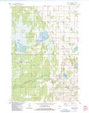 Download a high-resolution, GPS-compatible USGS topo map for Trade River, WI (1983 edition)