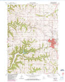 Download a high-resolution, GPS-compatible USGS topo map for Viroqua, WI (1985 edition)