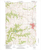 Download a high-resolution, GPS-compatible USGS topo map for Viroqua, WI (1983 edition)
