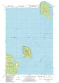 Download a high-resolution, GPS-compatible USGS topo map for Washington Island NE, WI (1983 edition)