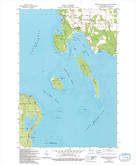 Download a high-resolution, GPS-compatible USGS topo map for Washington Island SW, WI (1994 edition)
