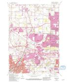 Download a high-resolution, GPS-compatible USGS topo map for Waukesha, WI (1994 edition)