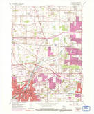 Download a high-resolution, GPS-compatible USGS topo map for Waukesha, WI (1992 edition)
